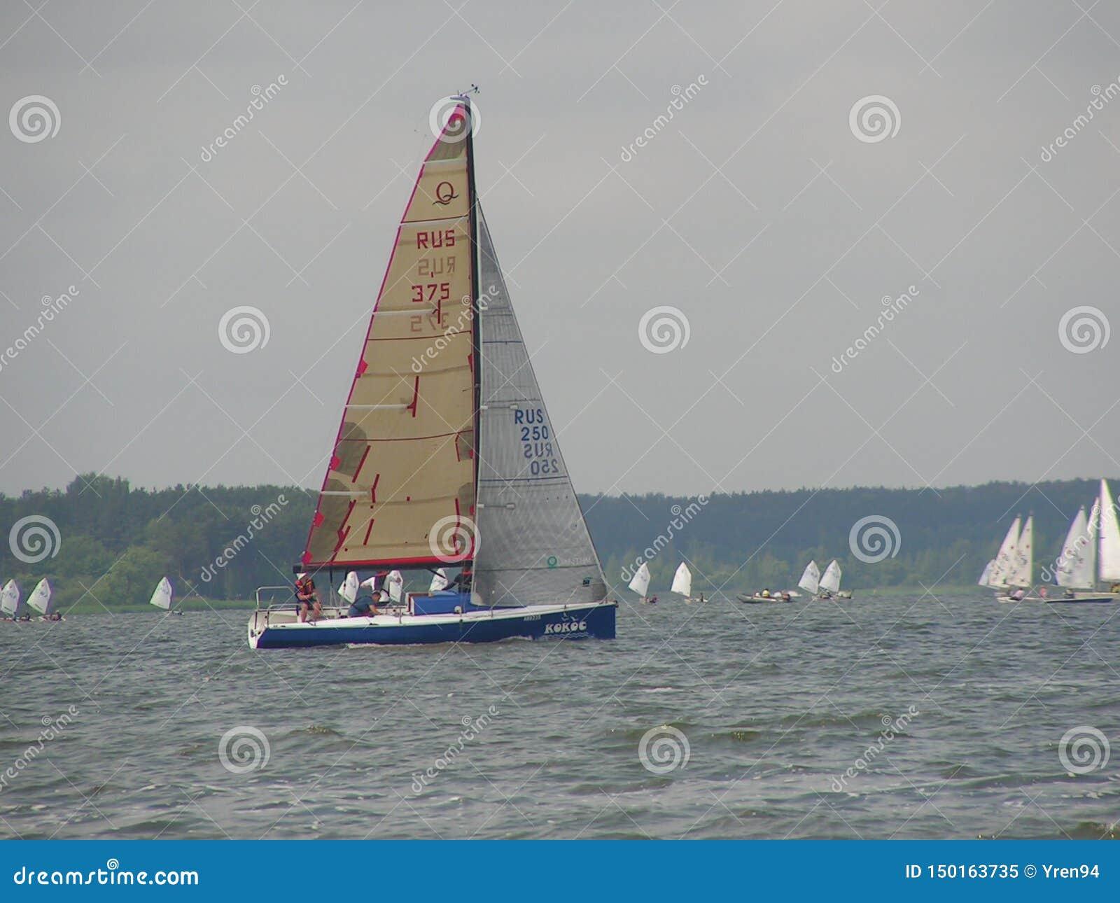 Gefährliche Konvergenz von Yachten Foto 14 von 14 Der Minsk-Meer-Zaslavskoe-Reservoir Republik Belarus