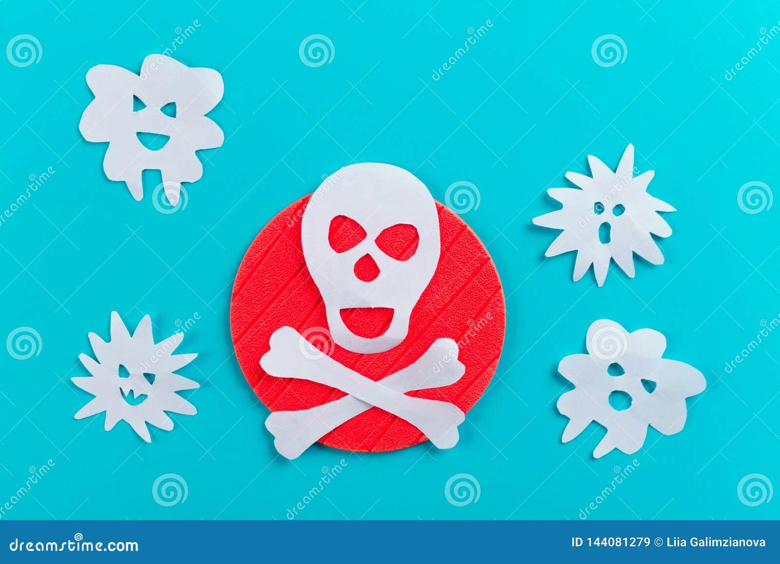 Gefährliches Viruskonzeptbild