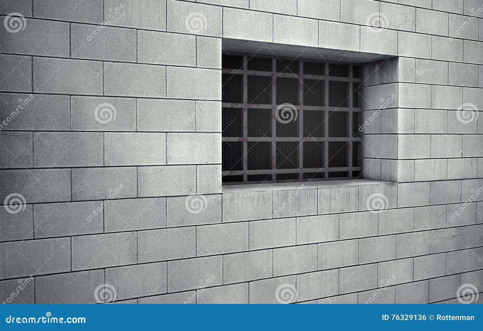 Gefängniszellgitterfenster Wiedergabe 3d
