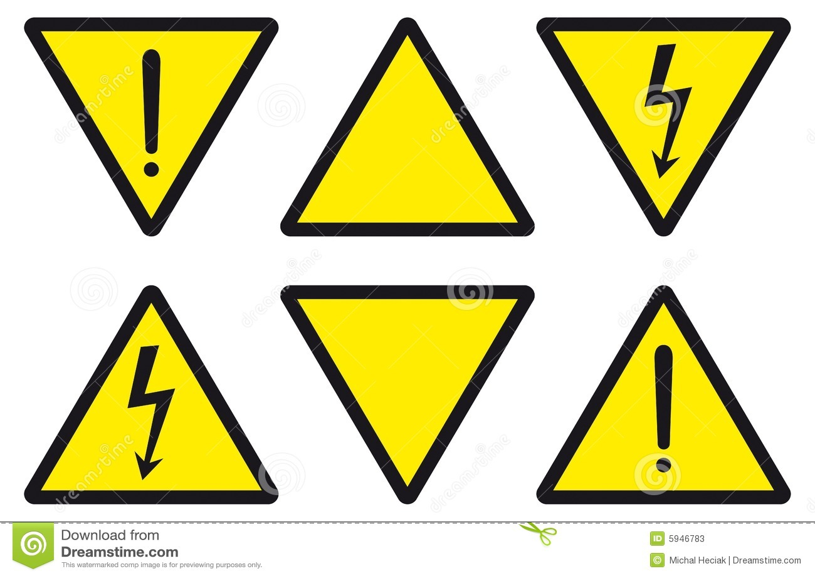 Gefahr, Achtung, Elektrizität Vektor Abbildung - Illustration von ...