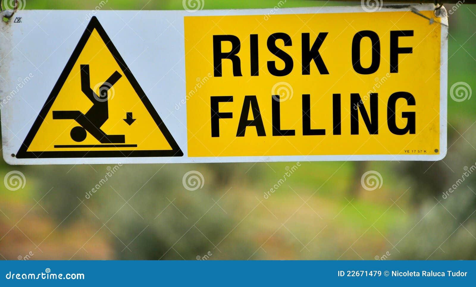 Gefahr des fallenden Zeichens