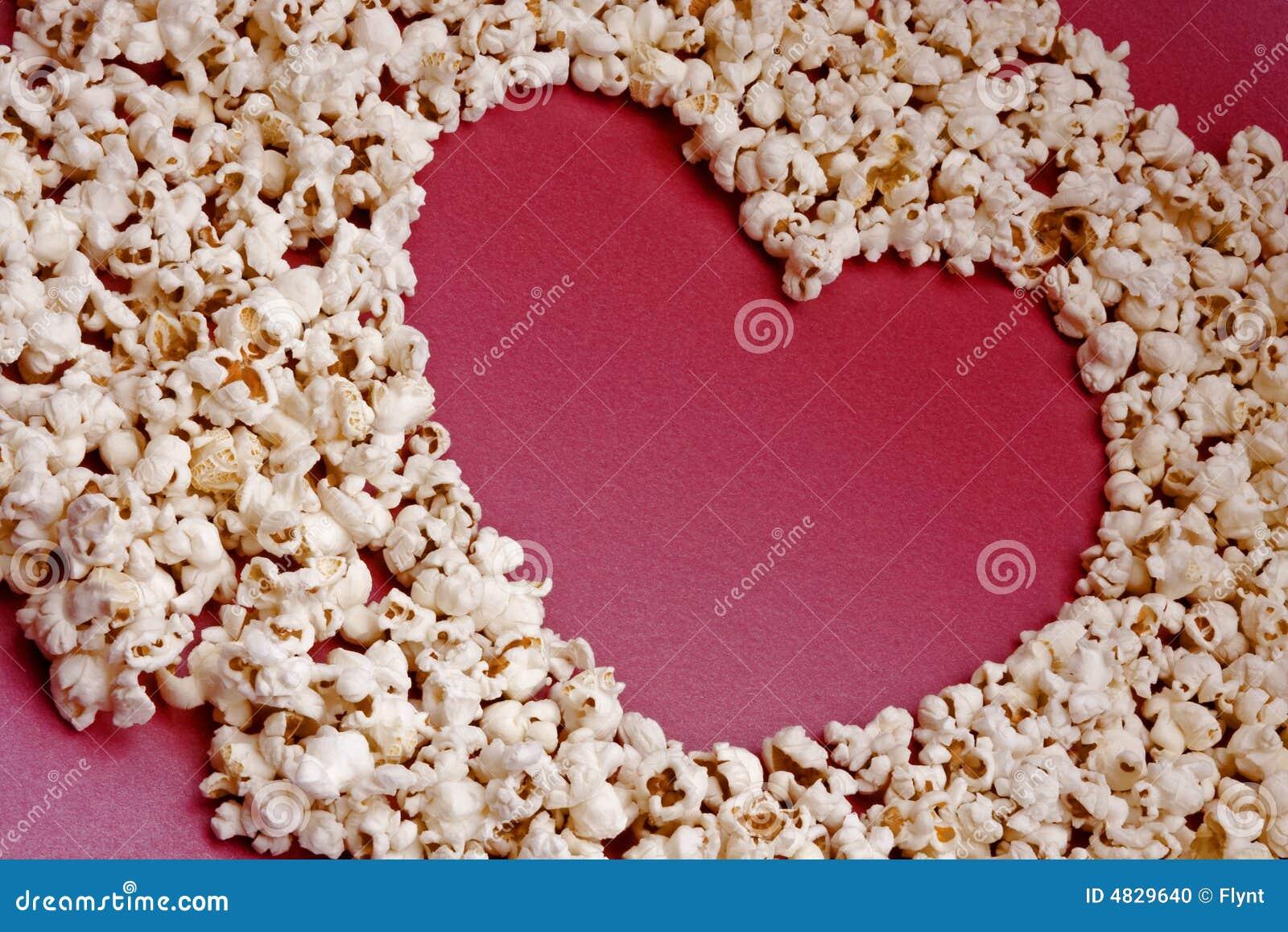 Geformtes Popcorn des Inneren