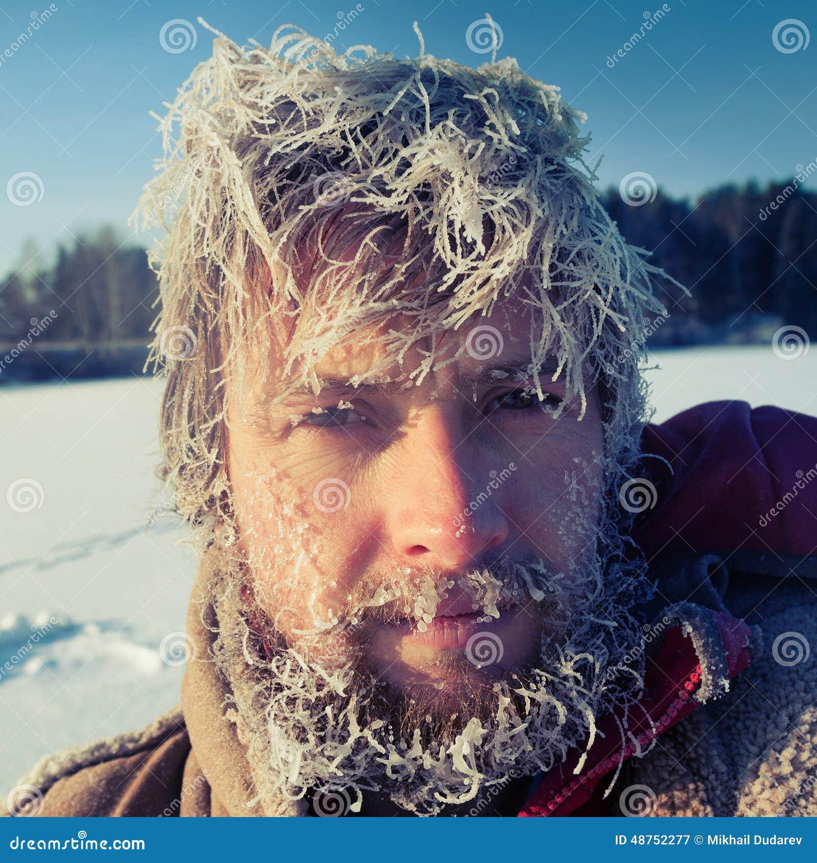 Gefrorener Mann Stockbild Bild Von Schnee Winter