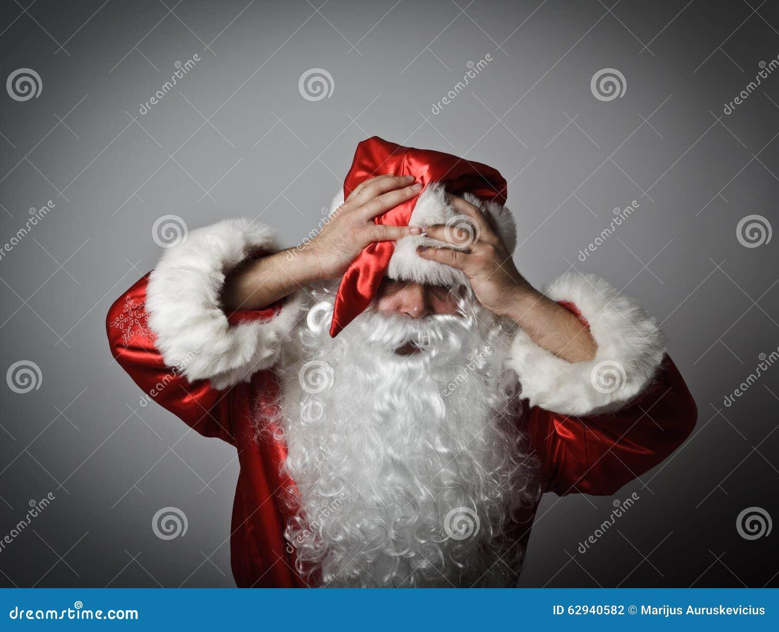 Gefrustreerde Santa Claus