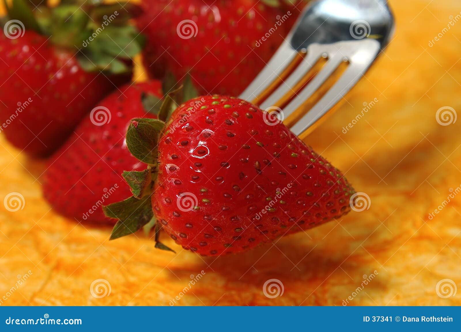 Gegabelte Erdbeere