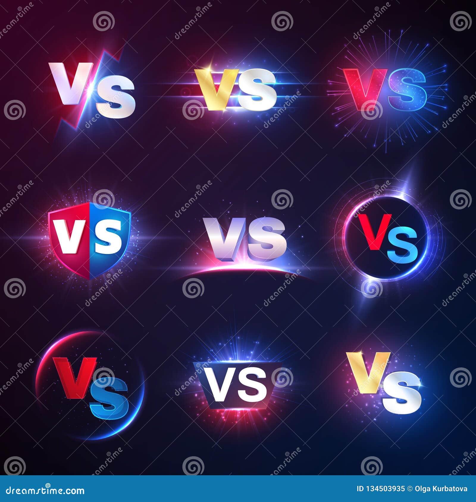 Gegen Embleme Gegen Muttahida Majlis-e-Amal Wettbewerb Kampfkonfrontation lucha libre Wettbewerb gegen Vektorsymbole