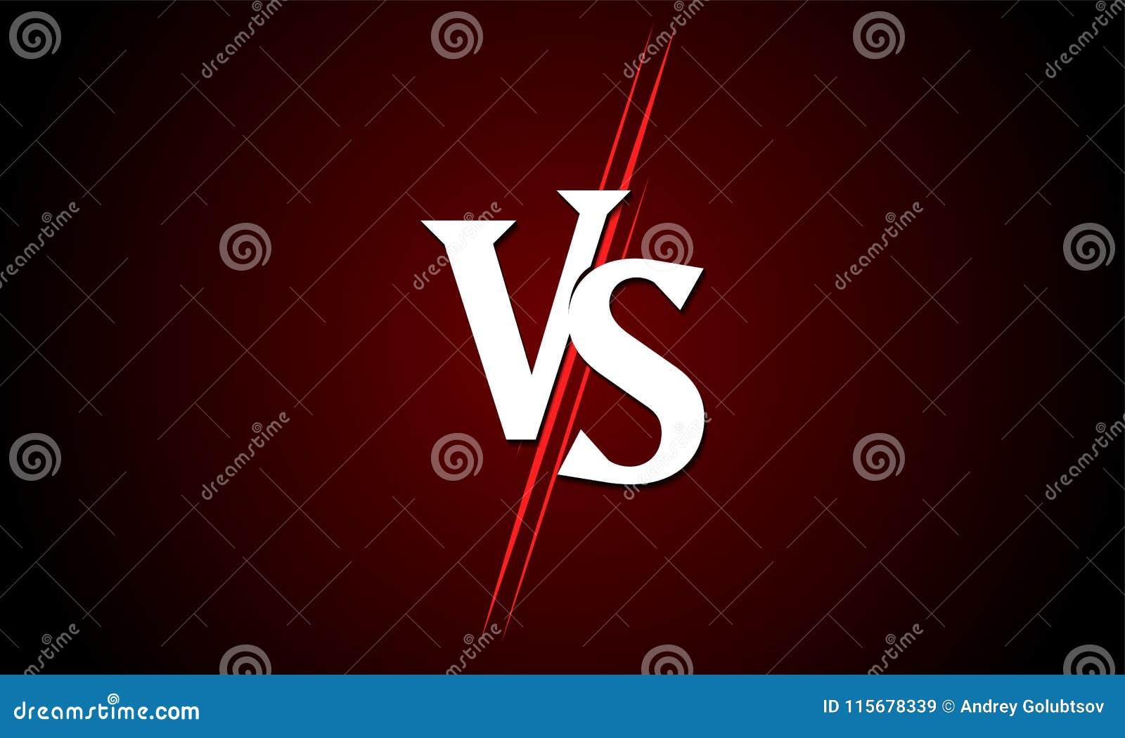 GEGEN gegen Vektorikone für Sportmatchwettbewerb