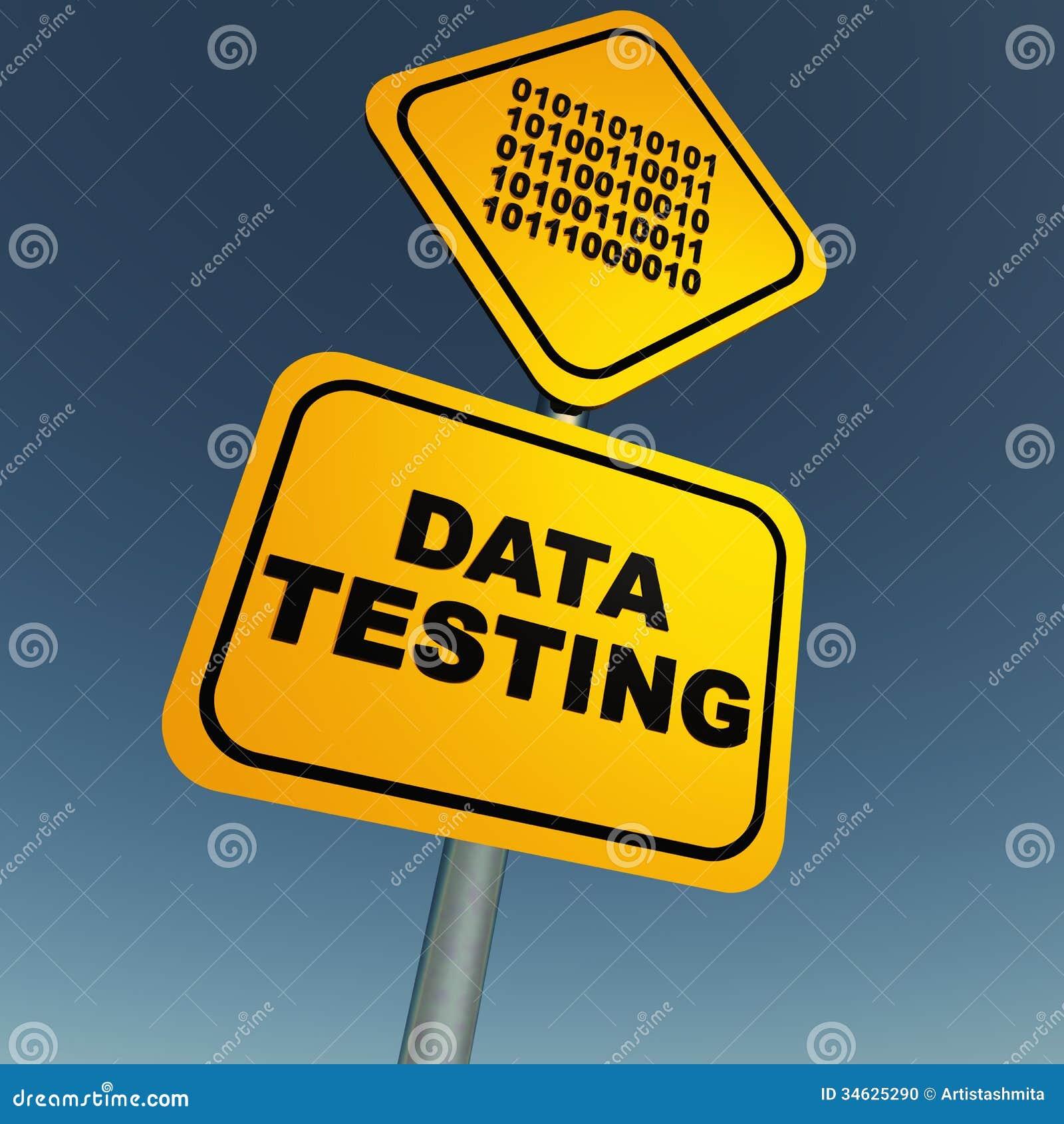 Gegevens het testen