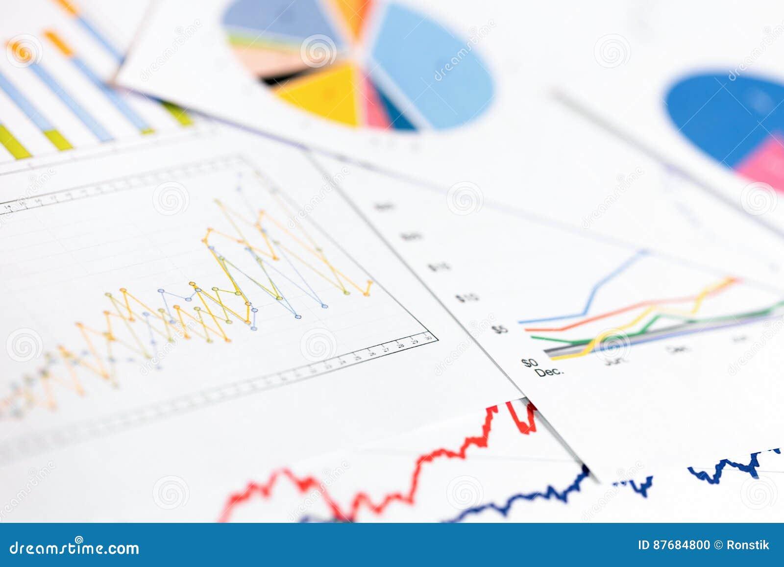 Gegevensanalytics - bedrijfsgrafieken en grafieken