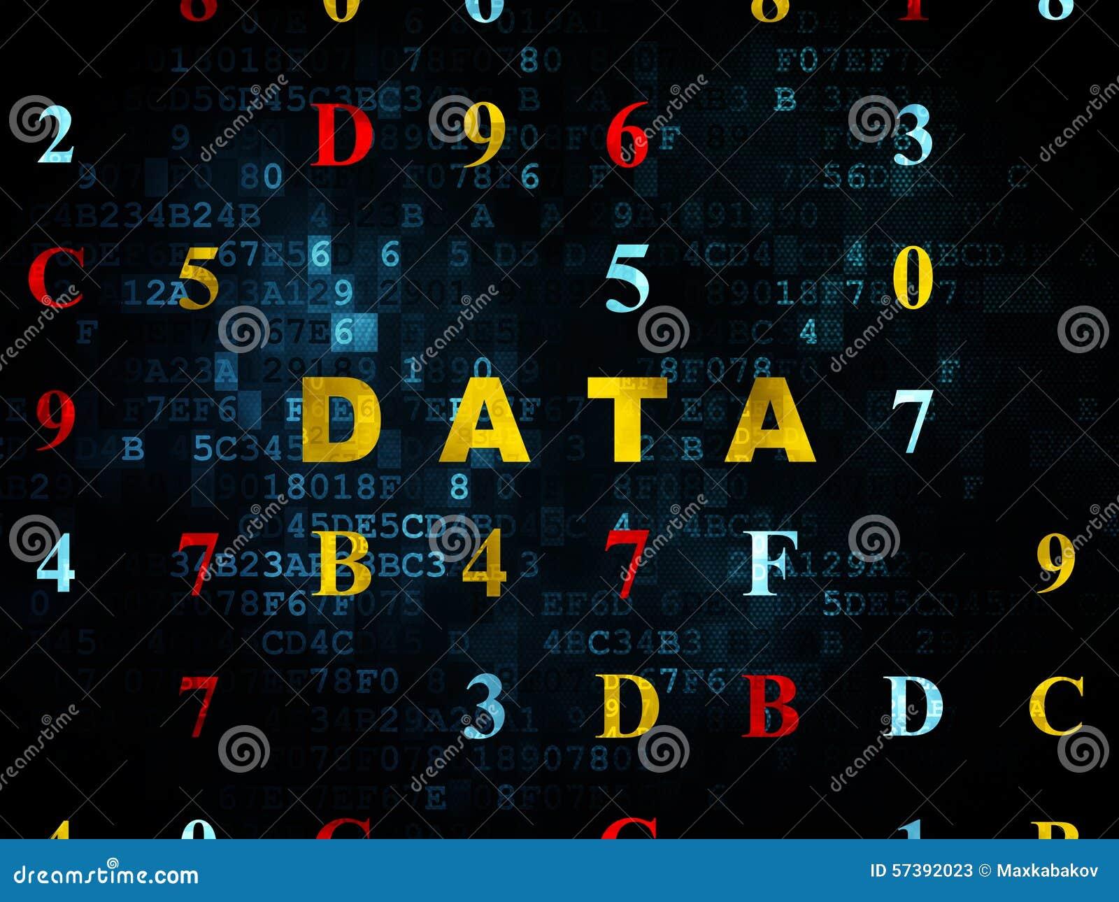 Gegevensconcept: Gegevens over Digitale achtergrond