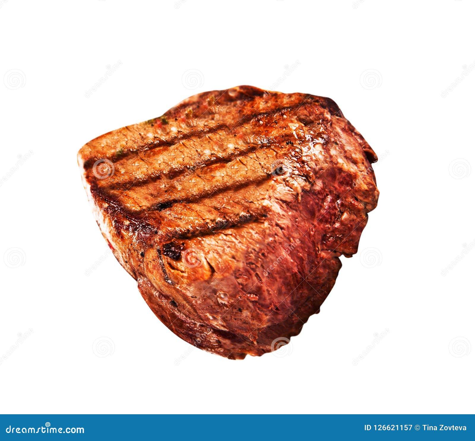 Gegrilltes bbq-Steak auf Weiß