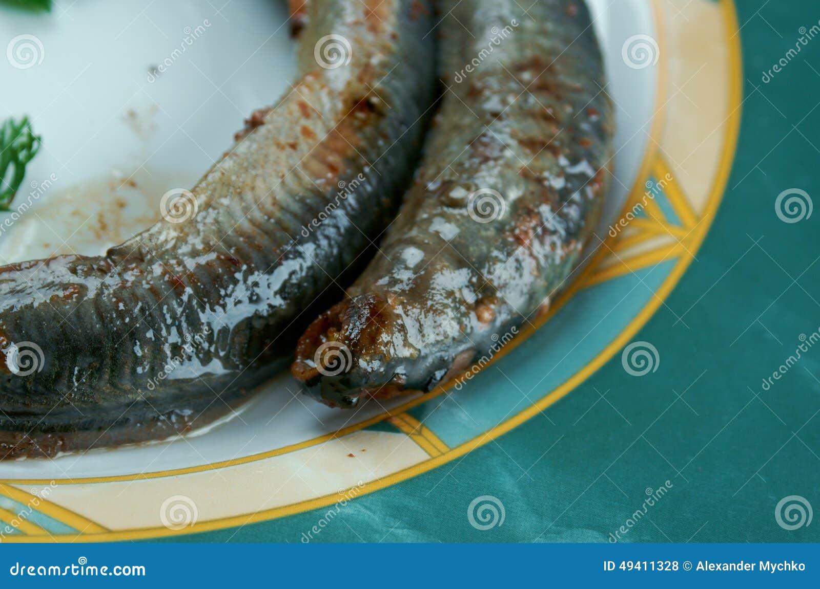 Download Gegrilltes Neunauge stockfoto. Bild von fische, grill - 49411328