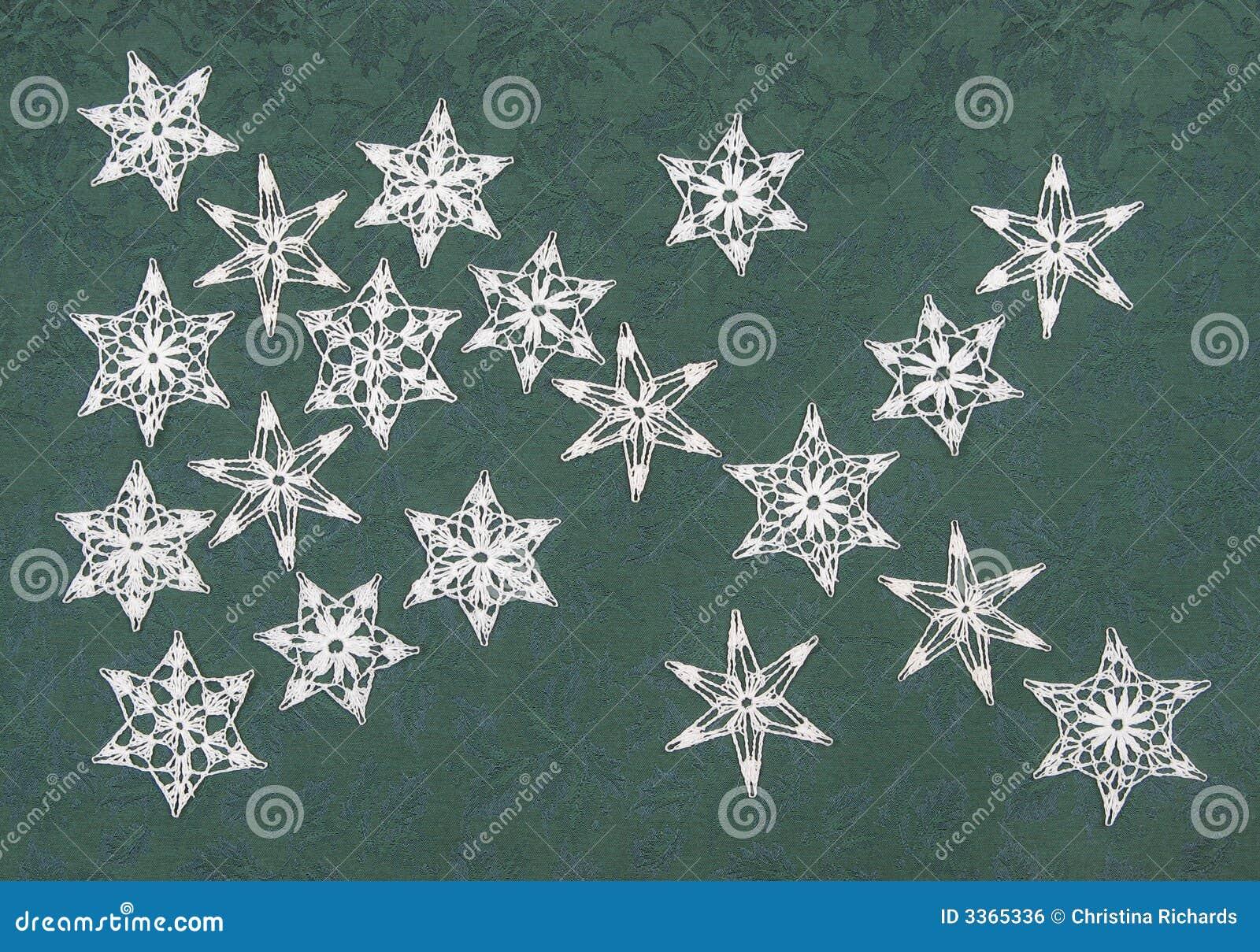 Gehaakte Sneeuwvlokken Stock Foto Afbeelding Bestaande Uit Sneeuw
