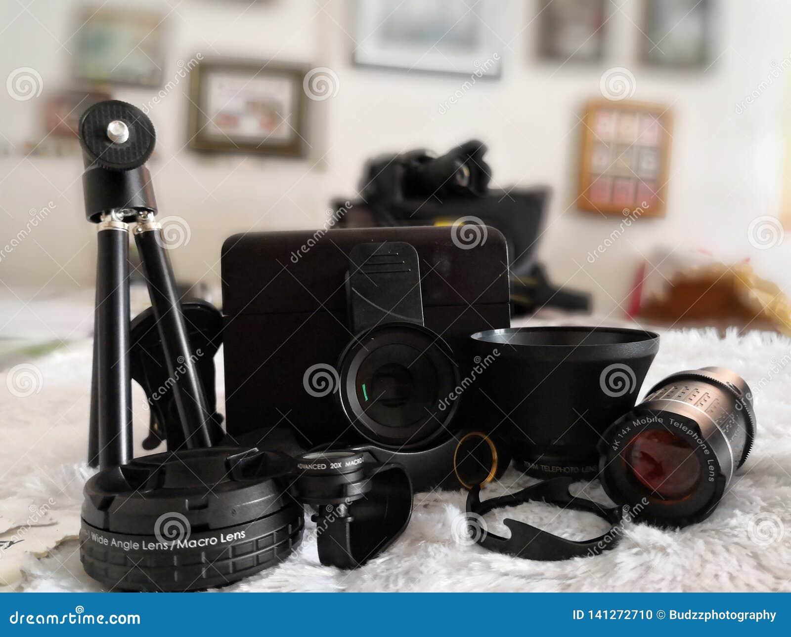 Gehechtheidslenzen voor mobiele telefooncamera