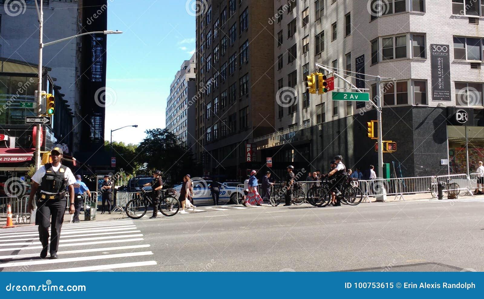 Geheimagent-Vertreter, Polizeibeamten, NYC, NY, USA
