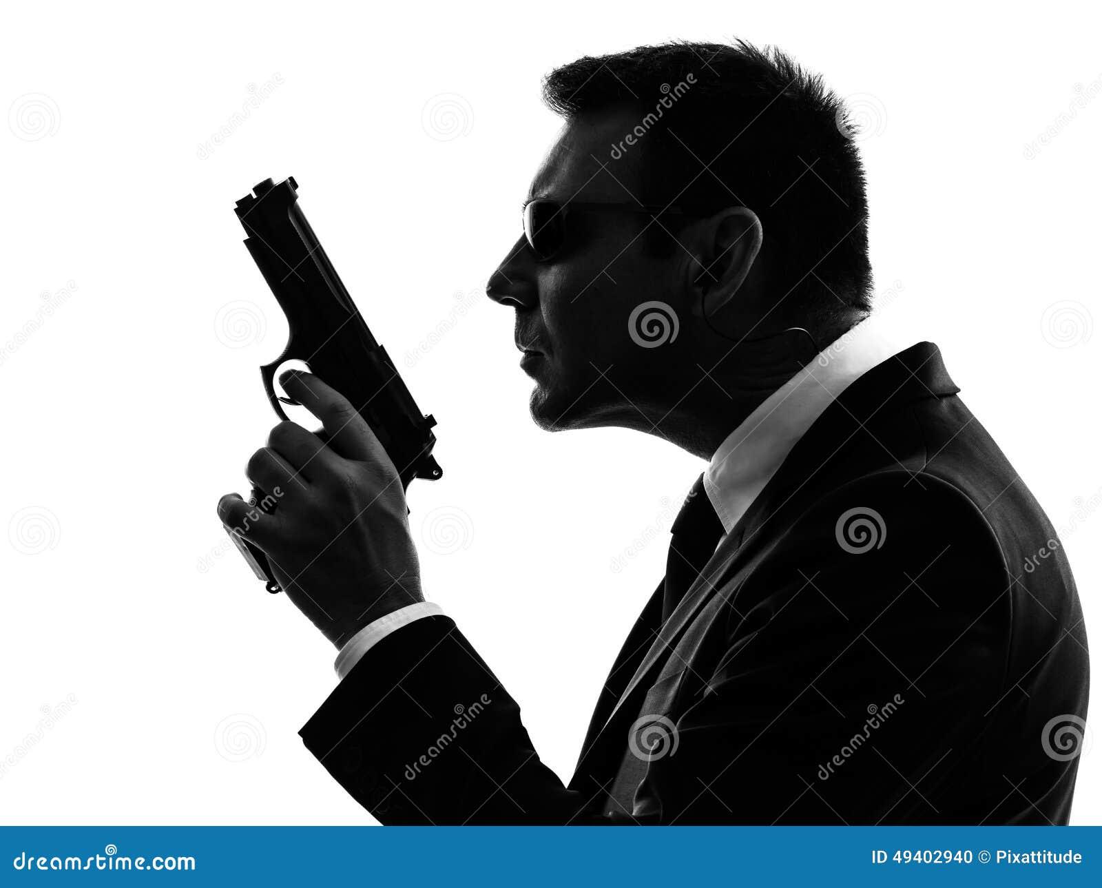 Download Geheimagentsicherheitsleibwächtermittel-Mannschattenbild Stockfoto - Bild von gesetz, service: 49402940