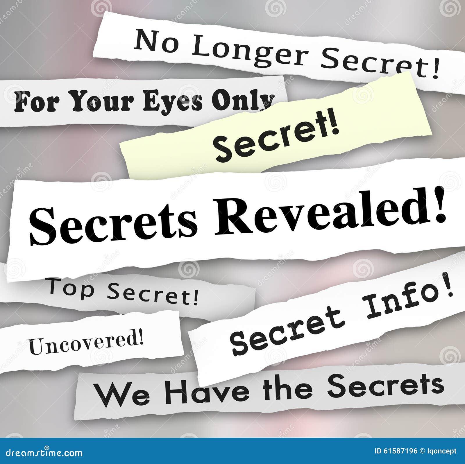 Geheimen Geopenbaarde Krantekoppen Geclassificeerd Vertrouwelijke Informatie
