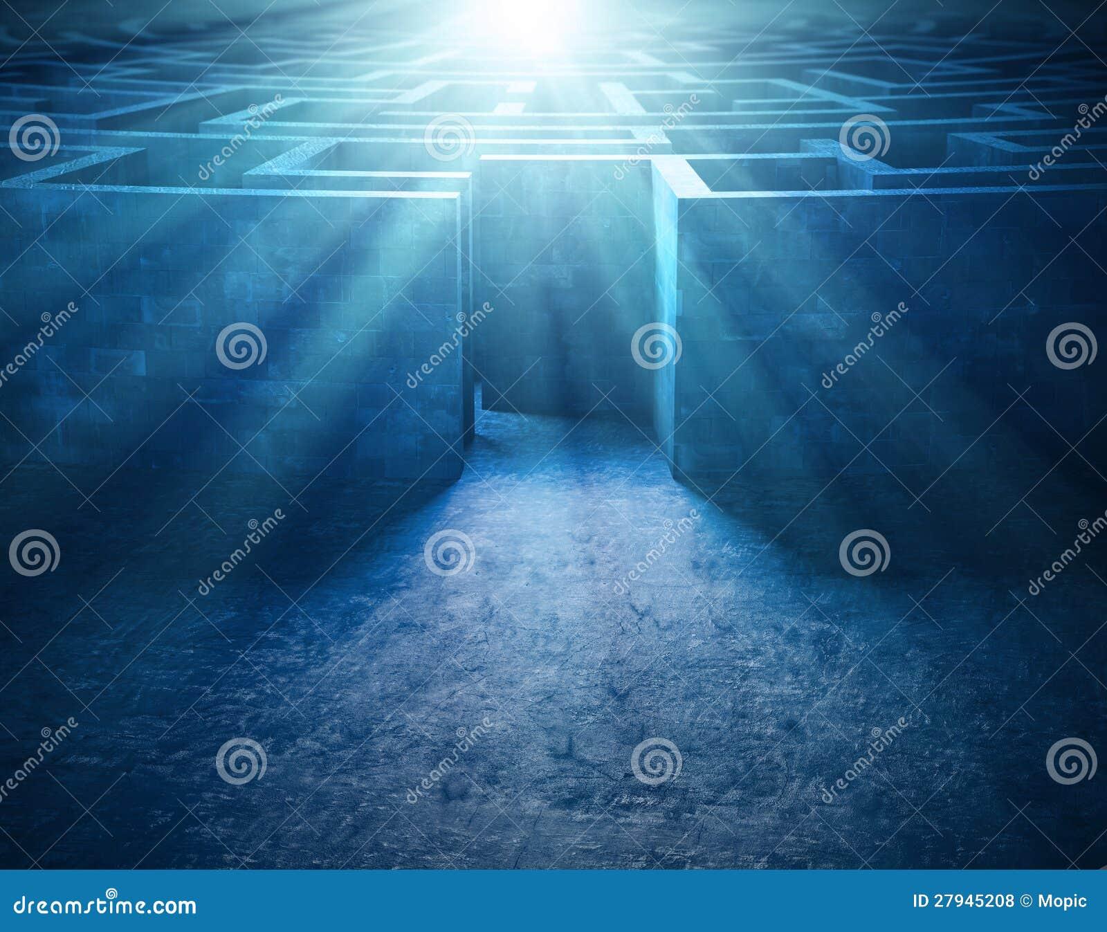 Geheimzinnig oud labyrint stock illustratie afbeelding bestaande uit gang 27945208 - Idee gang ingang ...