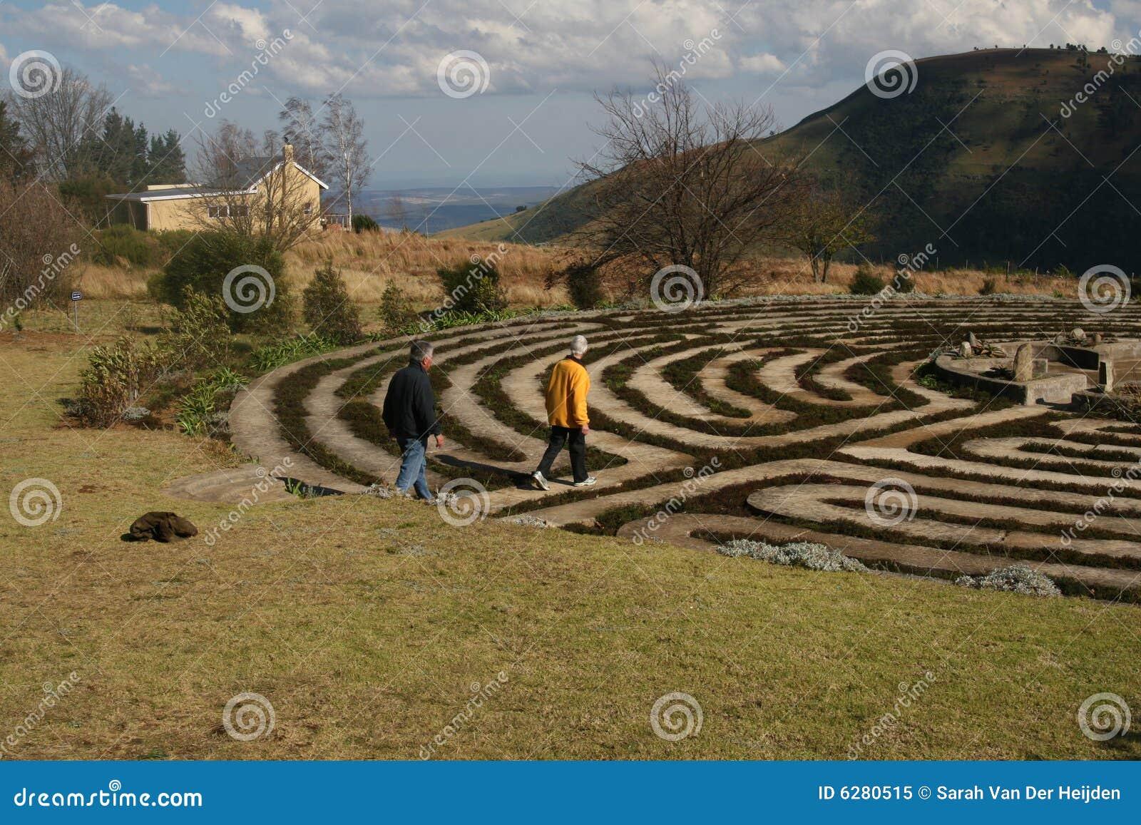 Gehen das Labyrinth