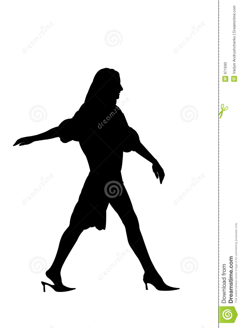Woman walking away from man silhouette