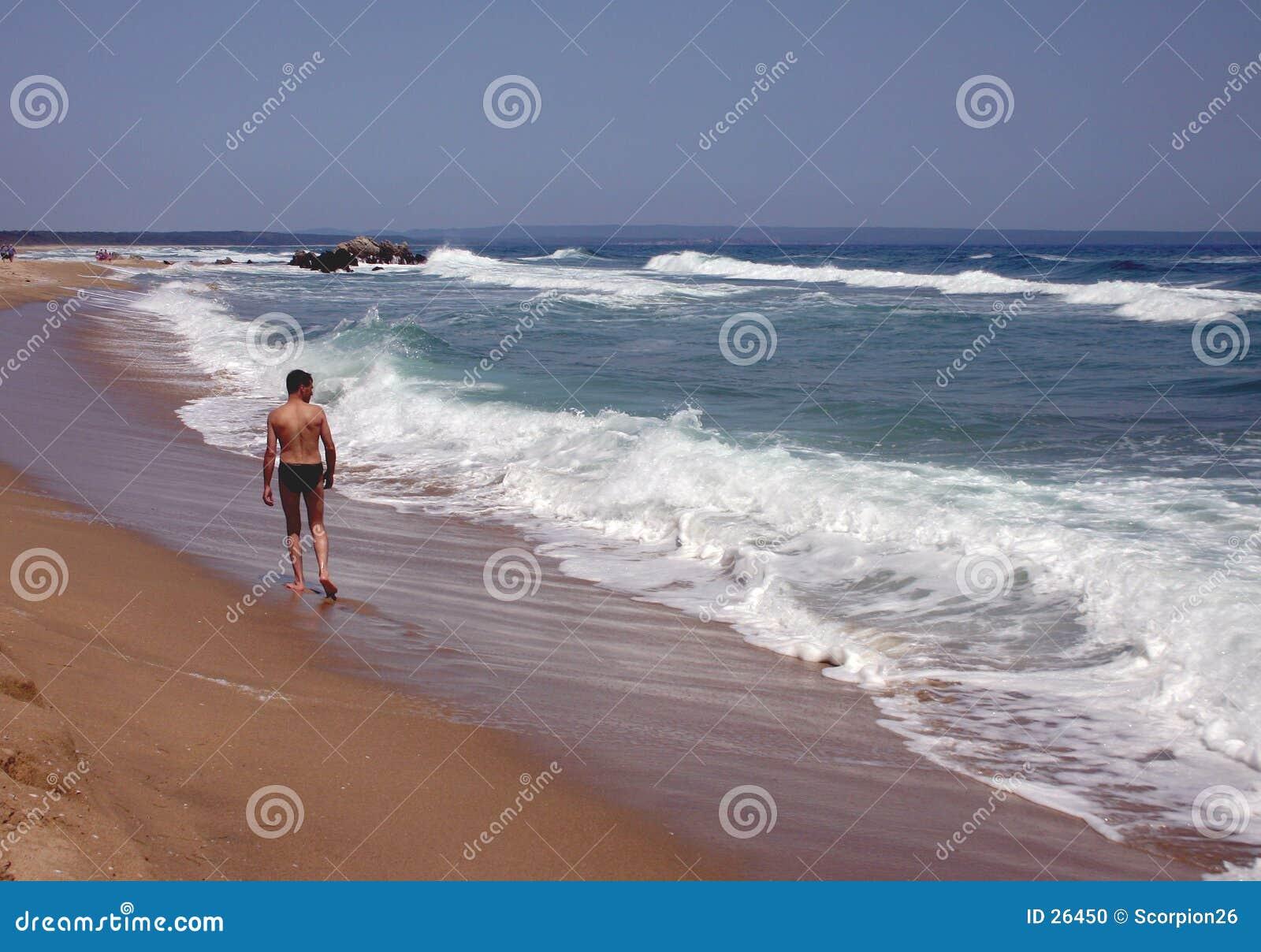 Gehender Strand