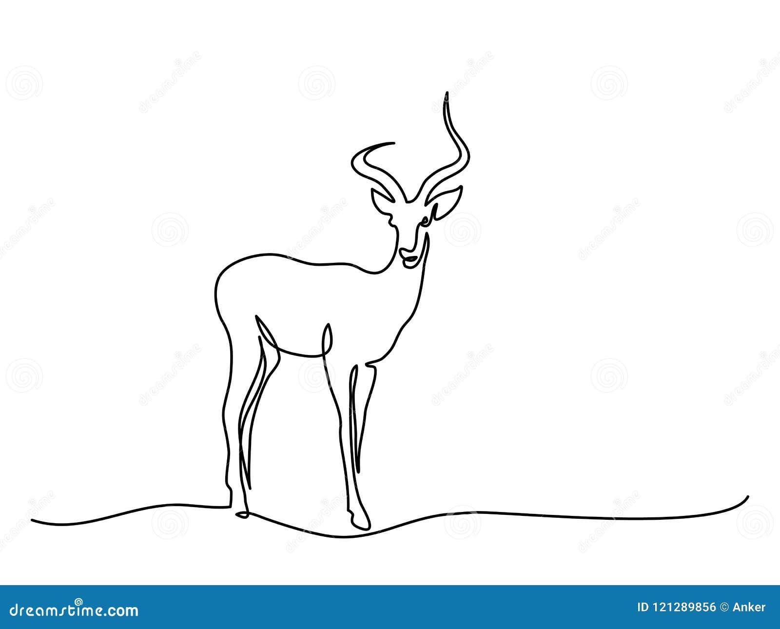 Gehendes Symbol der Impala