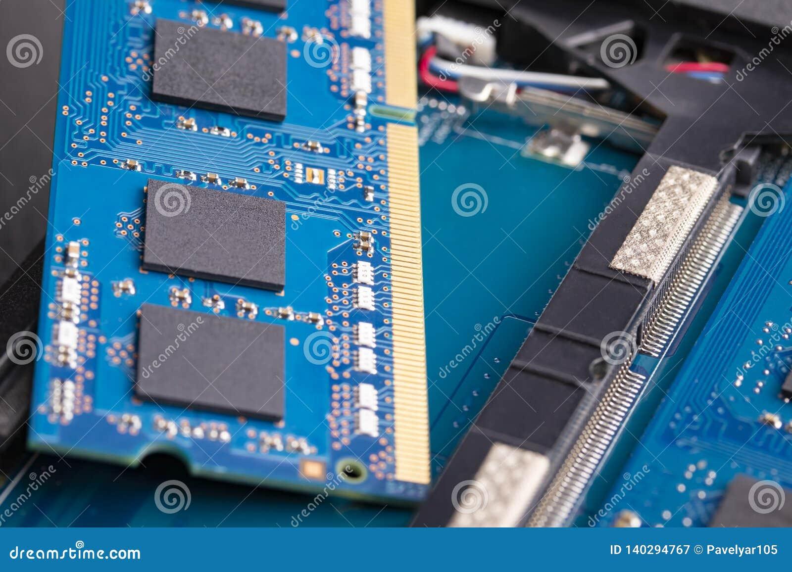 Geheugenkaart in laptop