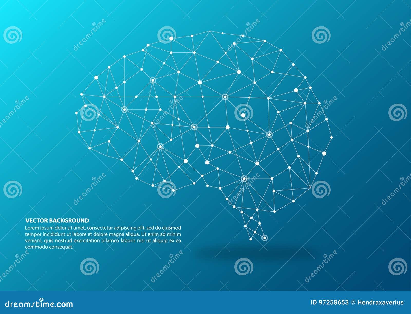 Gehirn, das Konzept aufzeichnet