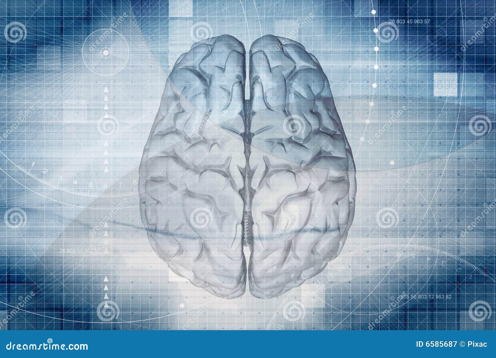 Gehirn-Hintergrund stock abbildung. Illustration von mitte - 6585687