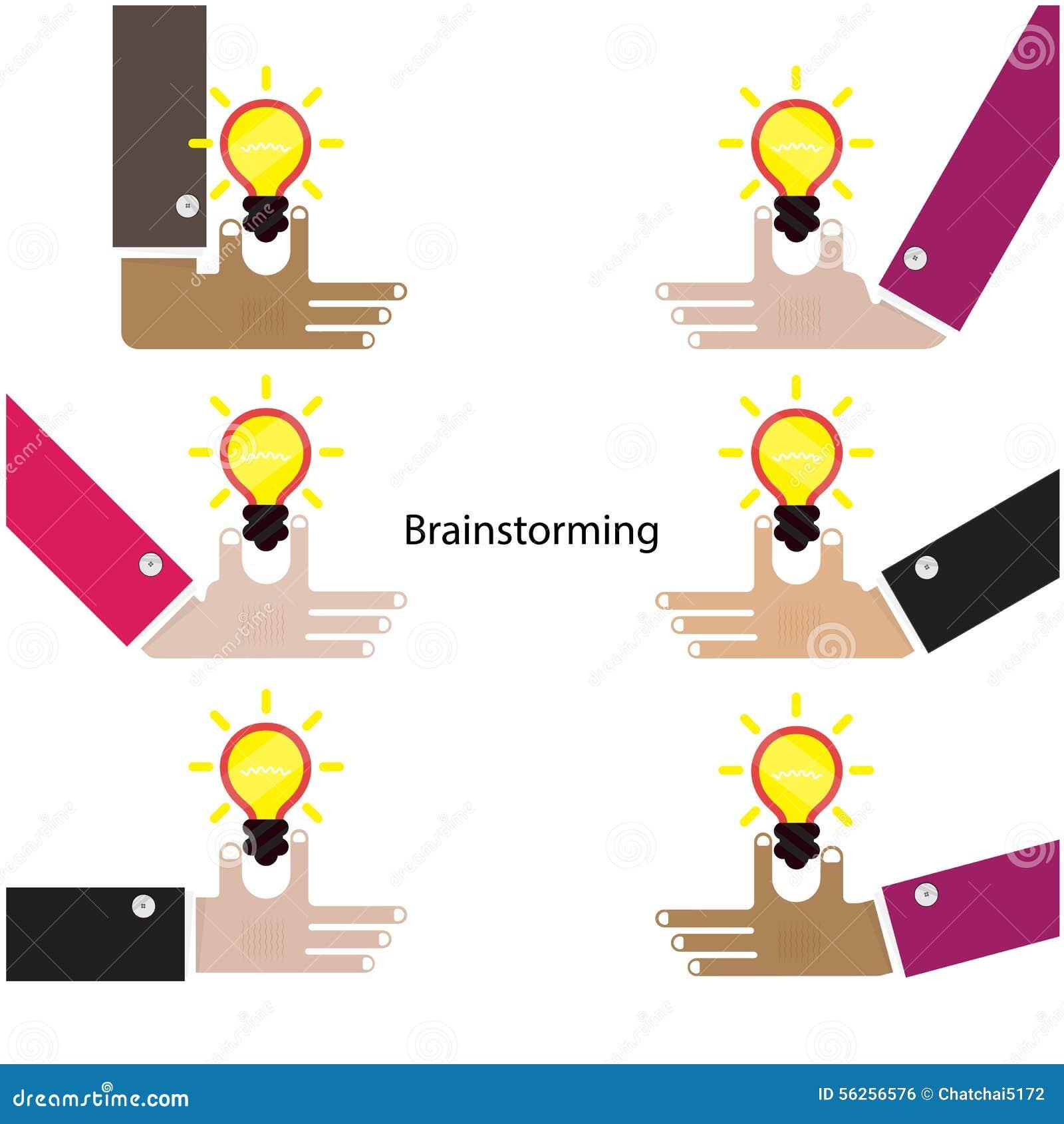 Gehirn und Blitze Teamwork- und Partnerschaftssymbol kreativ