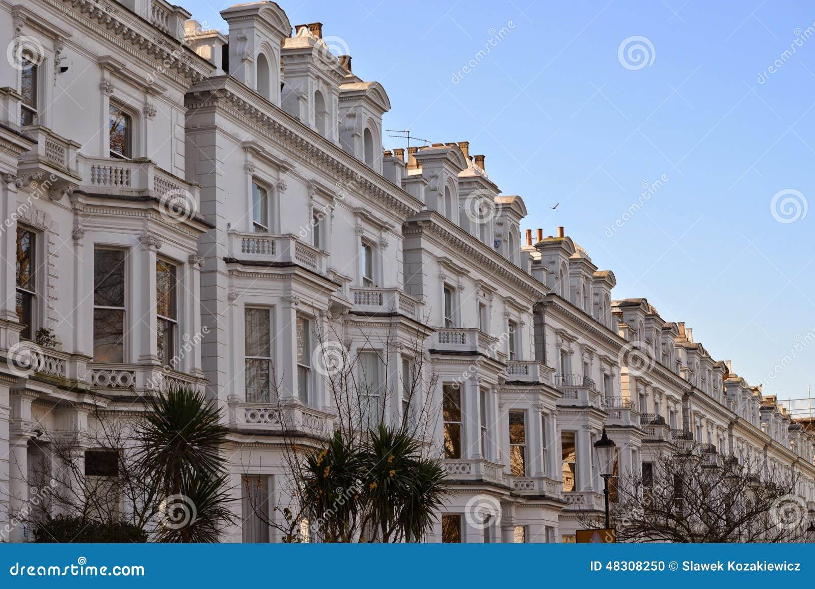 gehobene h user notting hill london stockfoto bild 48308250. Black Bedroom Furniture Sets. Home Design Ideas