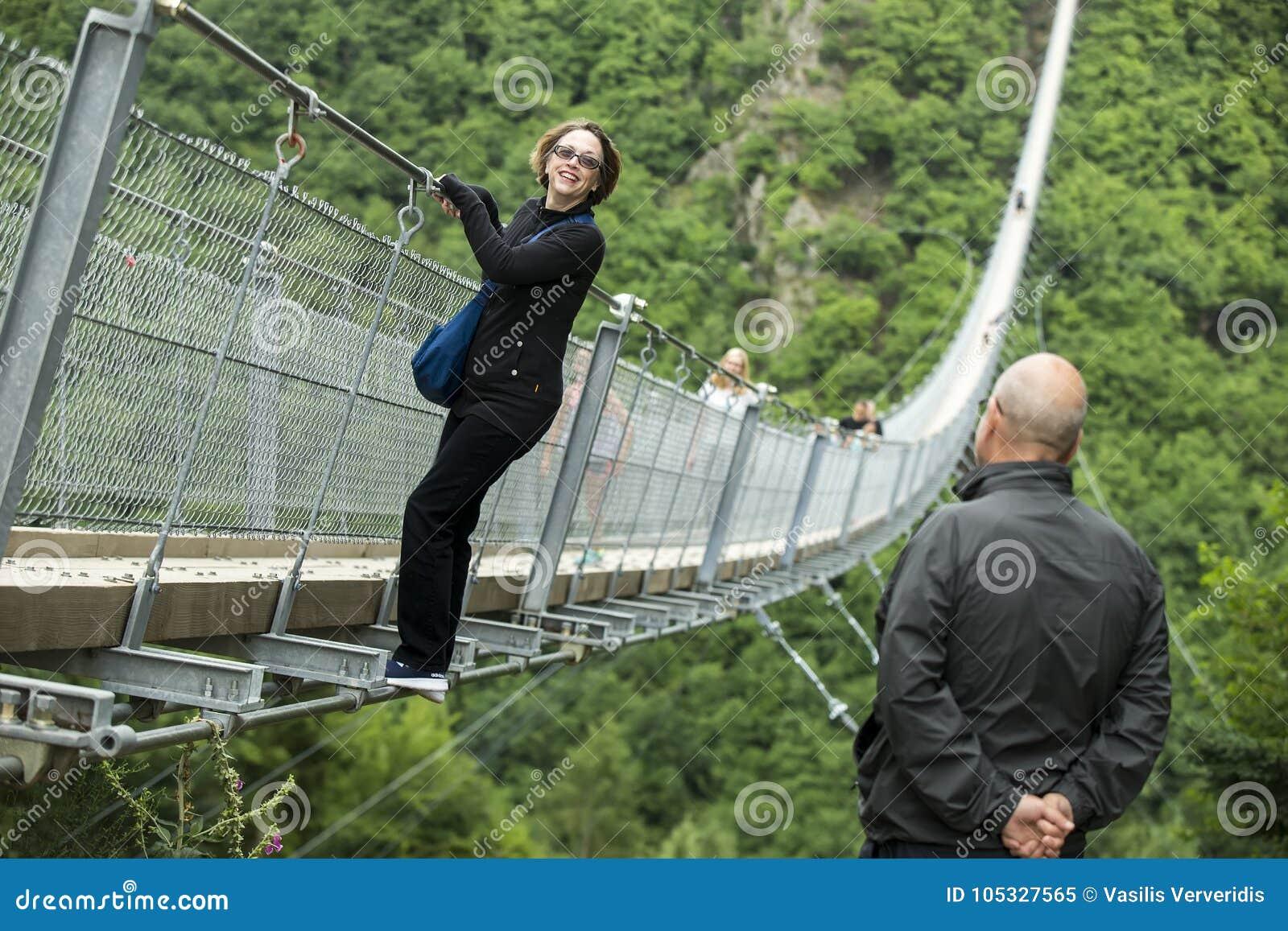Geierlay Suspension Bridge, Moersdorf, Germany Editorial Image ...