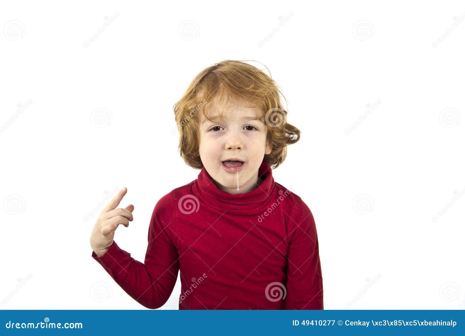 Download Geiferndes Kind stockbild. Bild von spaß, abschluß, geifer - 49410277