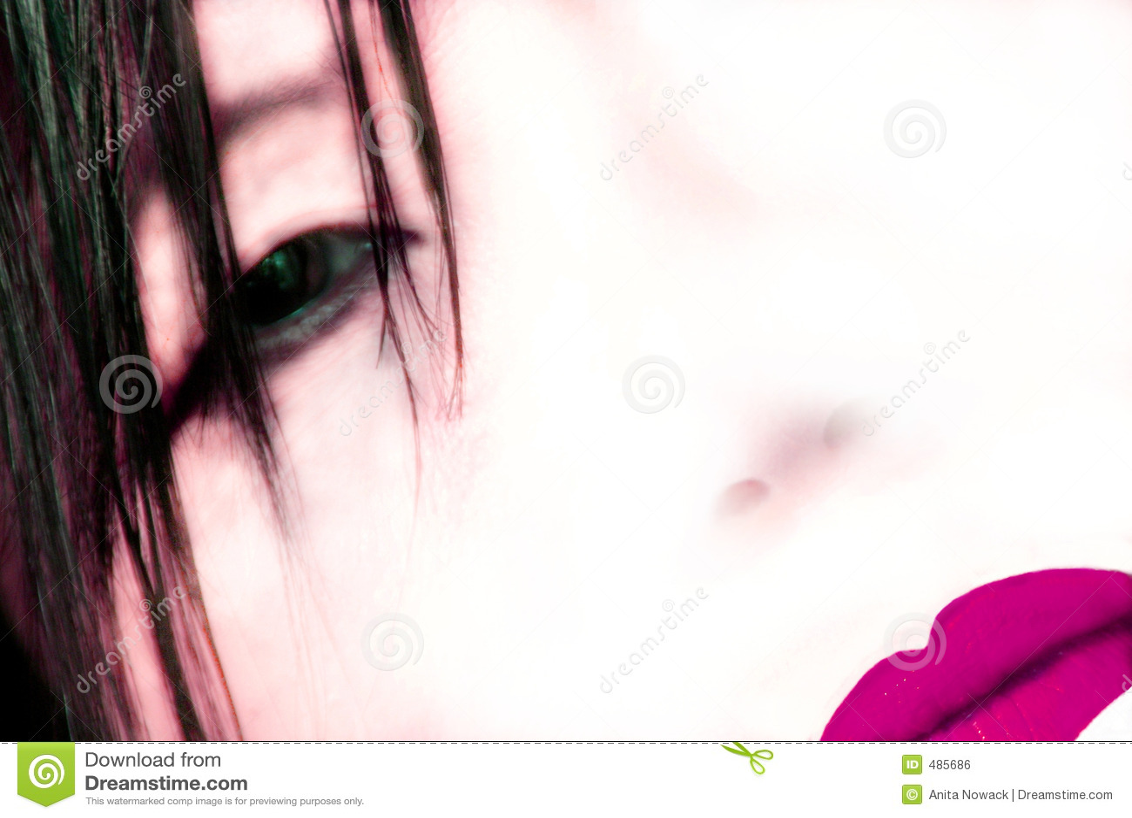 Geisha abstrait