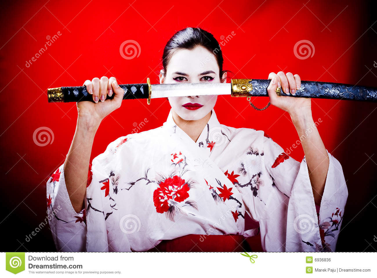 Geisha De Guerrier Photo Stock Image Du Verticale Actrice 6936836