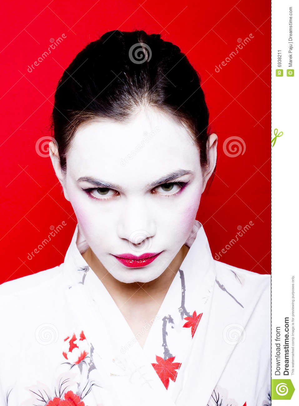 Geisha Make Up On Woman Stock Image Image 6938211