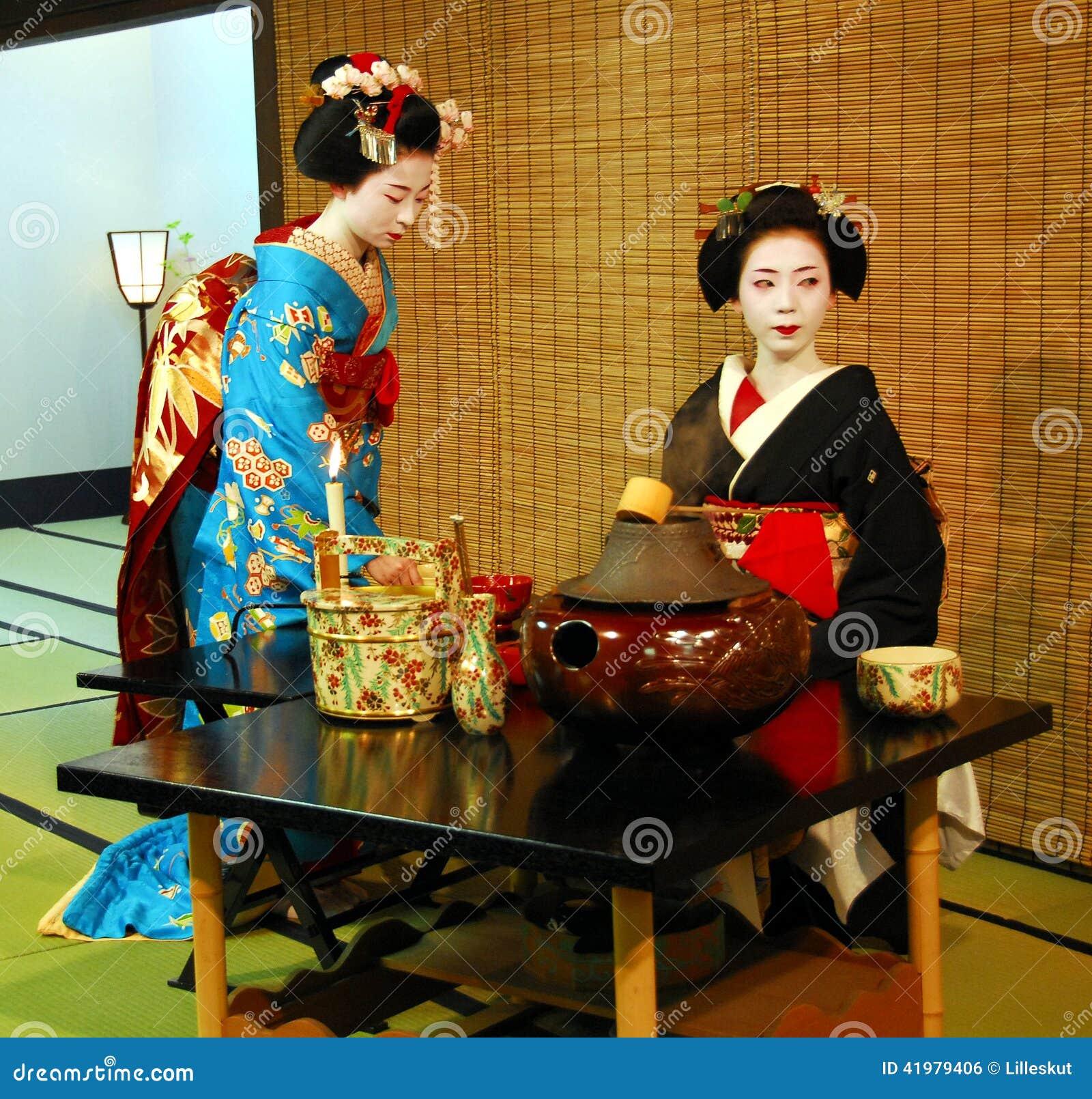 Geisha Tea Ceremony Editorial Photo Image 41979406