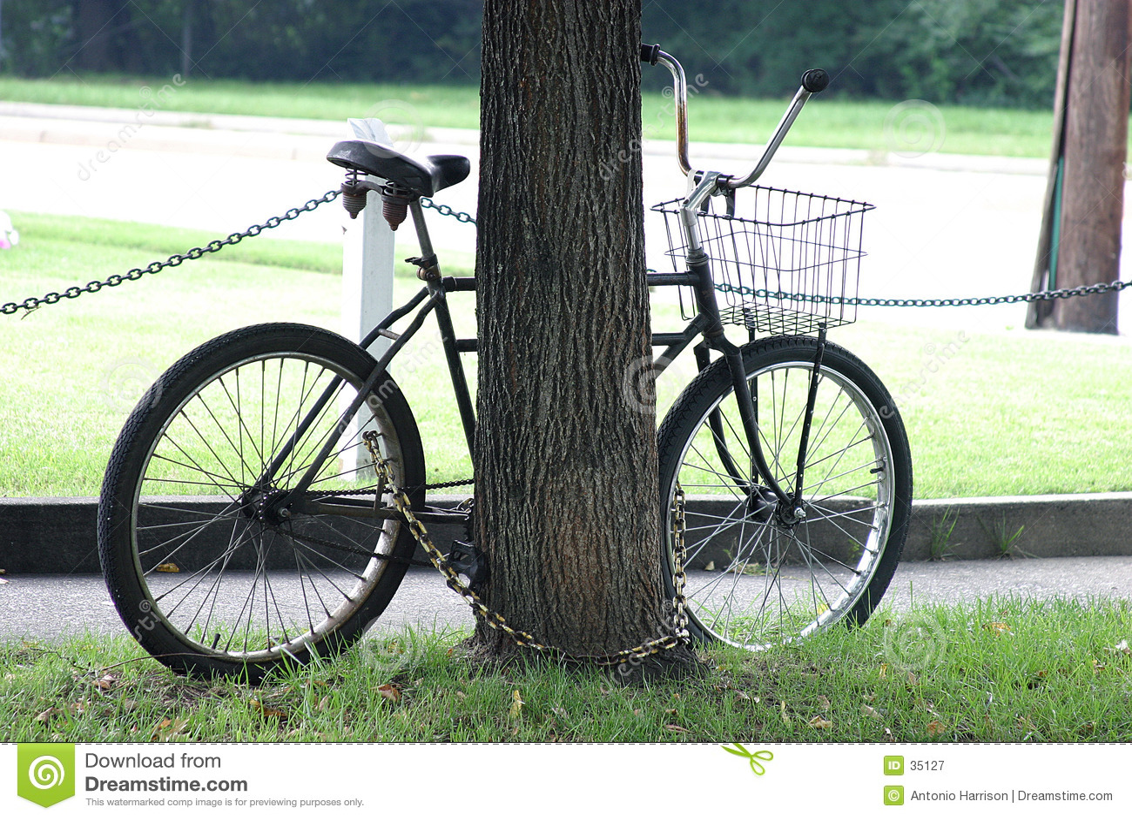Geketende fiets