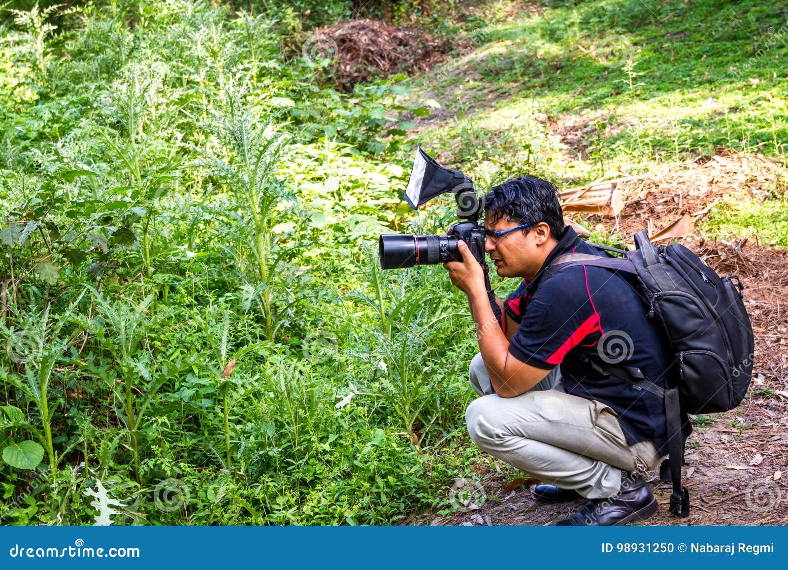 Gekke fotograaf