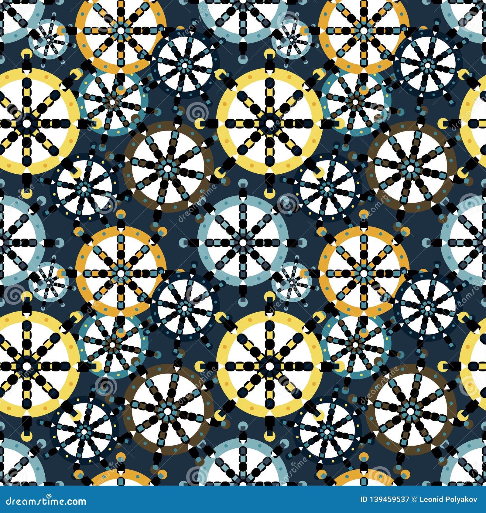 Gekleurd cirkels groot en klein geometrisch naadloos patroon