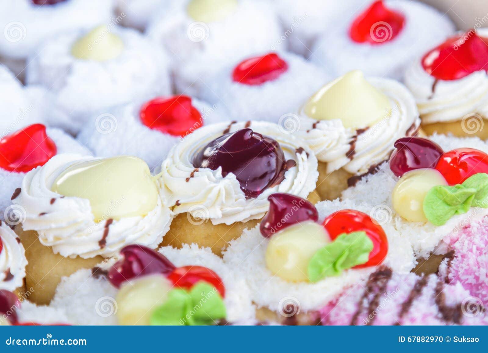 Gekleurd multi donuts