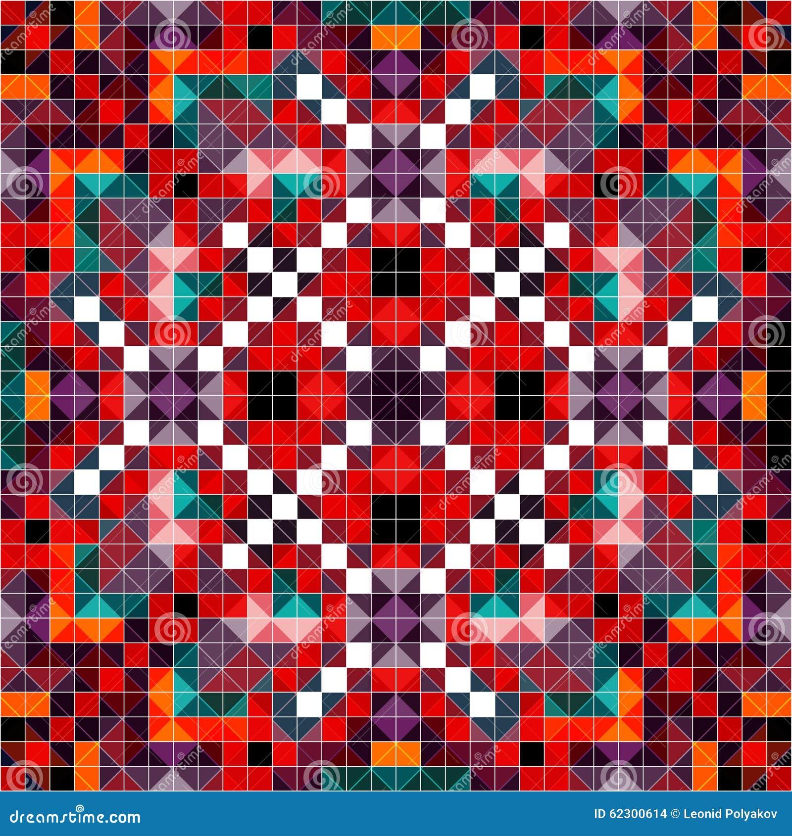 Gekleurd pixelpatroon in retro stijl vectorillustratie