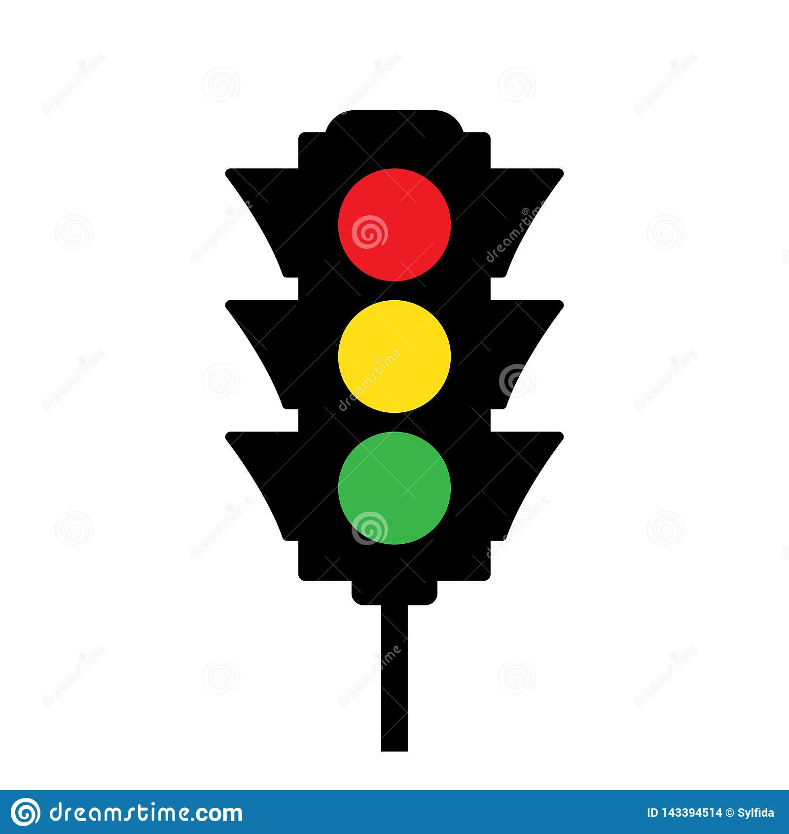Gekleurd Verkeerslichtpictogram Vector