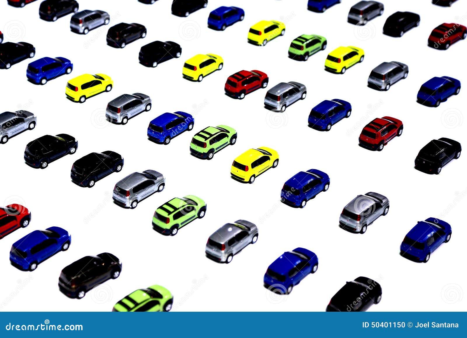 Gekleurde Auto S In Miniatuur Stock Foto Afbeelding Bestaande Uit Cyaan Achtergrond 50401150