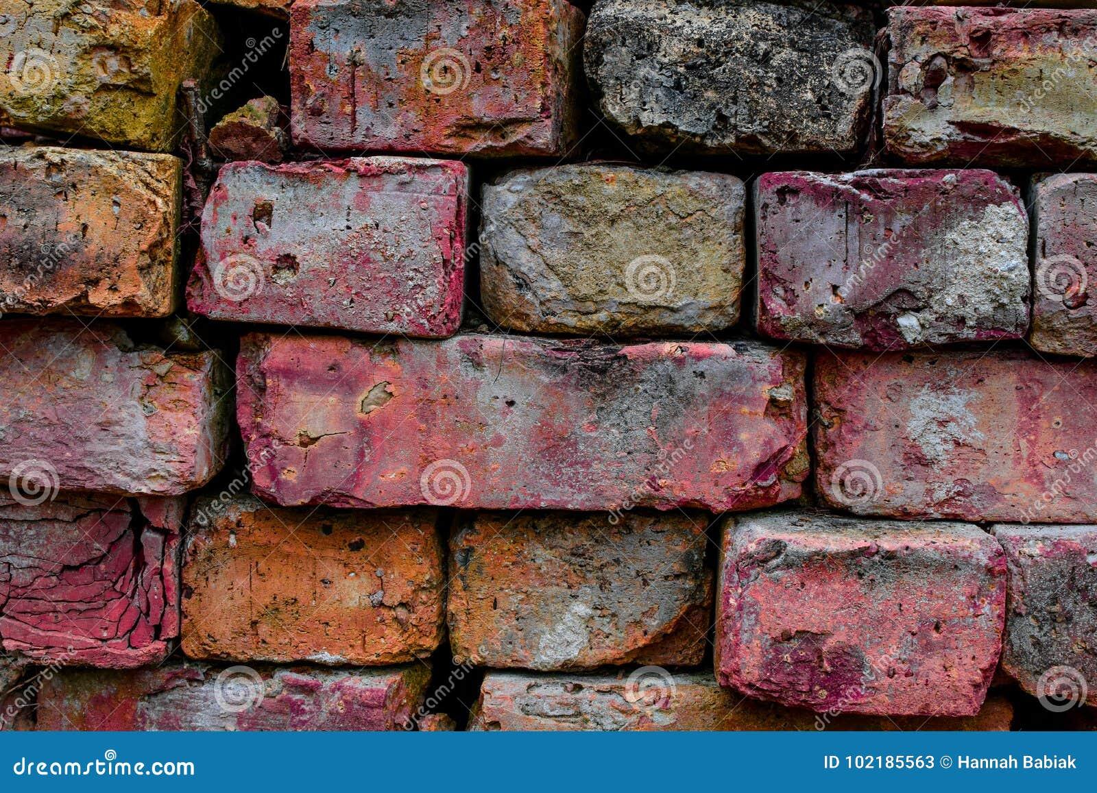 Gekleurde baksteenachtergrond