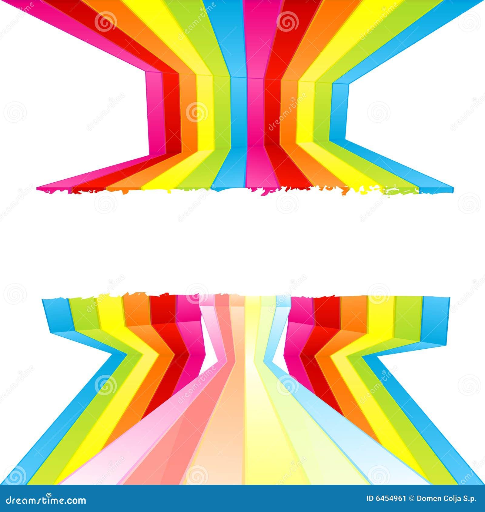 Gekleurde de muurstrepen van Grunge verf