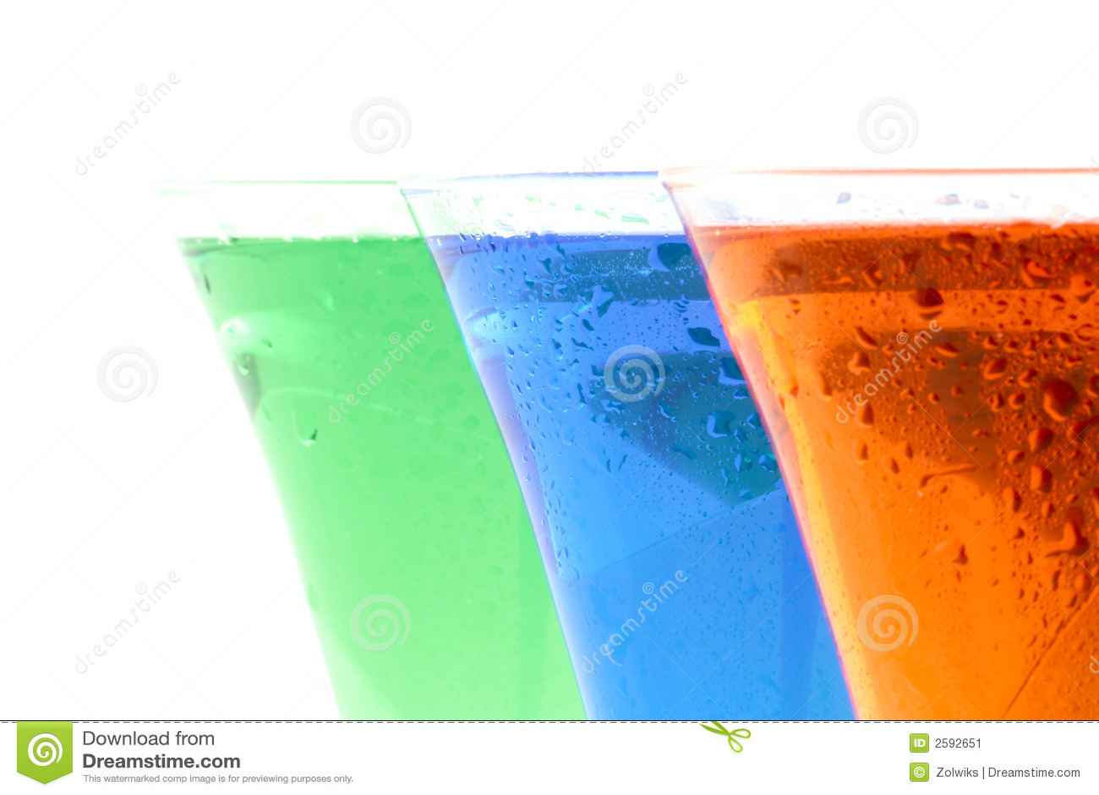 Gekleurde dranken