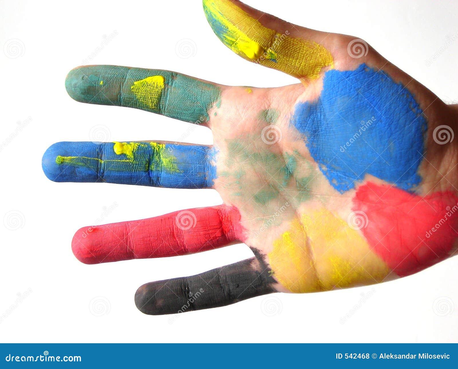 Gekleurde hand