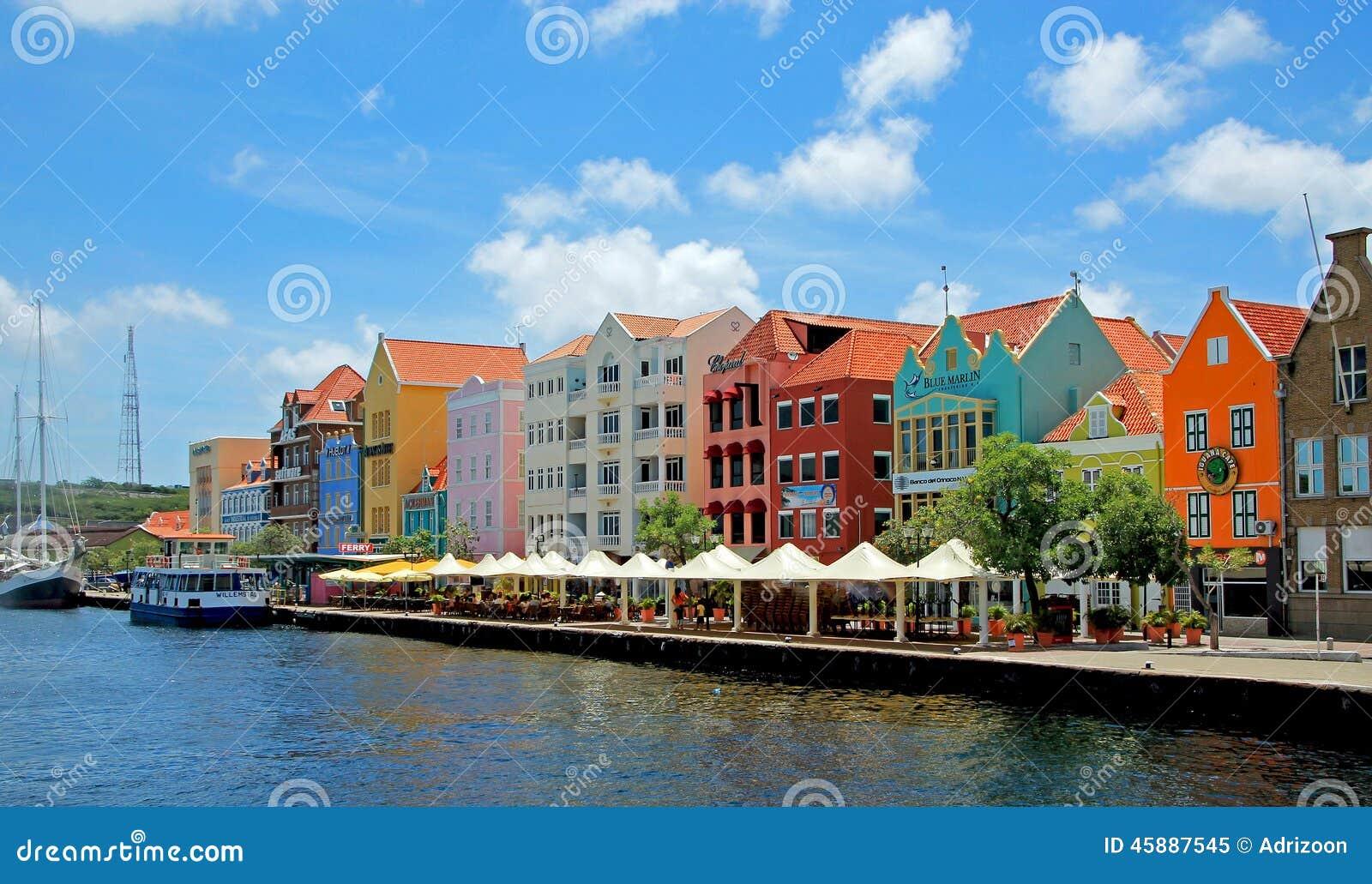 Gekleurde huizen van curacao nederlandse antillen redactionele afbeelding afbeelding 45887545 - Huizen van de wereldbank ...