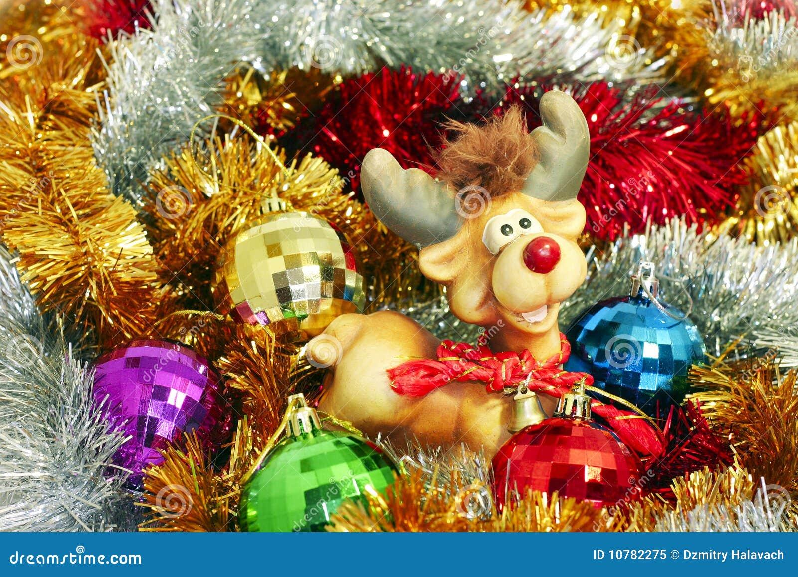 Gekleurde klatergoud en Kerstmis-Boom decoratie